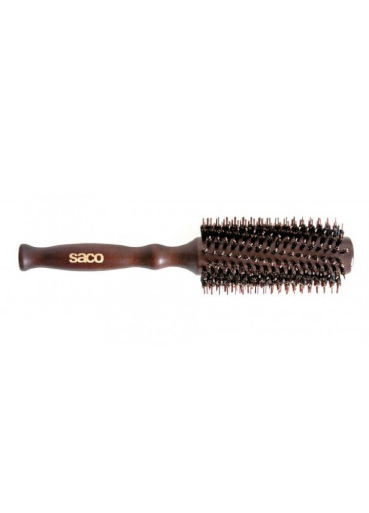 SACO ROUND BRUSHES WOOD T-TWO